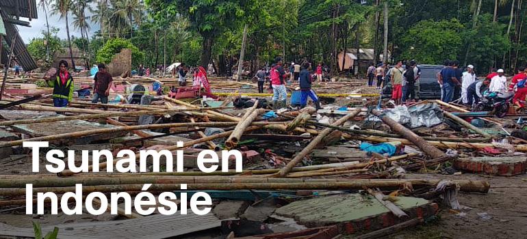 Fonds de secours : séismes et tsunami en Indonésie